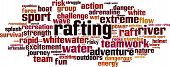 image of raft  - Rafting word cloud concept - JPG