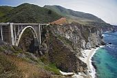 picture of bixby  - The mountainous Pacific Coast in Central California - JPG