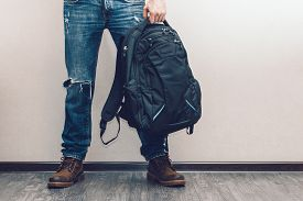 picture of denim jeans  - Young fashion man - JPG
