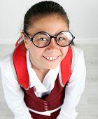 pic of schoolgirls  - Beautiful little funny schoolgirl - JPG