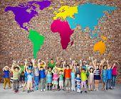 foto of environmental conservation  - Global Globalization World Map Environmental Conservation Concept - JPG
