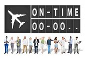 pic of punctuality  - On Time Punctual Efficiency Organization Management Concept - JPG