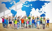 stock photo of environmental conservation  - Global Globalization World Map Environmental Conservation Concept - JPG
