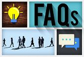pic of faq  - FAQs Guidance Answers Questions Feedback Concept - JPG