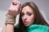 pic of sadism  - girl with his hands tied - JPG