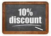 foto of ten  - ten percent discount sign  - JPG
