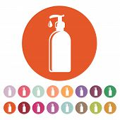 picture of gels  - The Liquid Soap Lotion Cream Shampoo icon - JPG