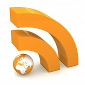 Rss Sign In Metallic Orange