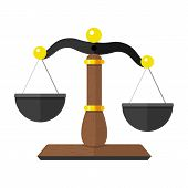 stock photo of scales justice  - Vector Illustration of Scales of Justice  - JPG