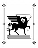 stock photo of winged-horse  - Symbol of Greek mythology the winged horse Pegasus a favorite of the Muses - JPG