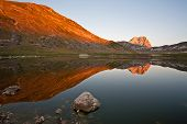 image of apennines  - The Gran Sasso in the National Park of Abruzzo in Italy - JPG