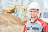 foto of millwright  - young construction site manager worker at building area - JPG