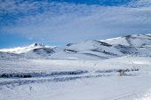 image of apennines  - Snowy mountain in the National Park of Abruzzo in Italy - JPG