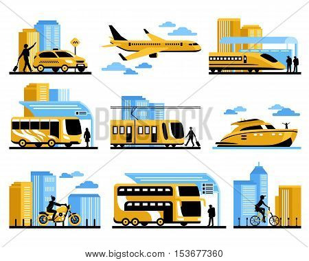 Traveling people isolated