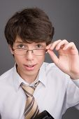 Young Businessman With Glasses