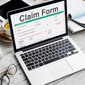 Claim Form Document Refund Indemnity Concept poster