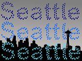 Seattle Skyline In Rain