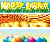 Set of Easter vector banners -headers