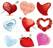 Collection of stylized hearts(id=48603961 vector)