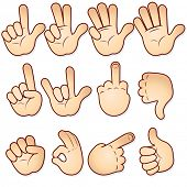 Cartoon hands collection-vector icon set- -MORE SIMILAR HANDS SEE AT MY GALLERY