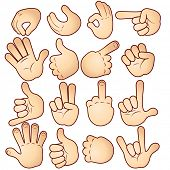 stock photo of middle finger  - Vector hands collection - JPG