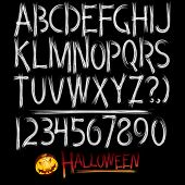 Decorative scary style alphabet (Halloween theme font)