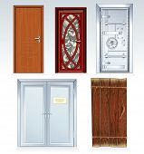 Doors Collection-classic bank vault door,wooden door, church front door, office double door, aged ru