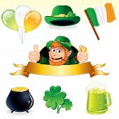 pic of irish flag  - Set of icons and symbols for Patrick - JPG