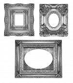 Vintage silver ornate frames