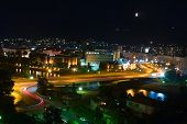 A view of city of Skopje at night