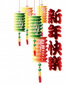 Multicolor chinese new year lanterns