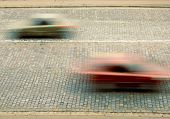Traffic with motion blur