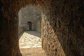 medieval passage tunnel