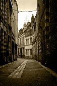 Curved Street In Lille, France