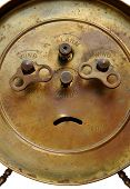 Back of vintage alarm-clock