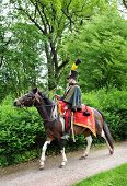 RATIBORICE, CZECH REPUBLIC - MAY 22: Imperial maneuvers - Reconstruction of historic event, Hussar,