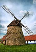 Old windmil in Kuzelov, Czech Republic