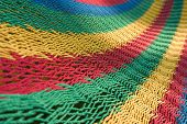 Colorful Background Texture Of A Hammock Close Up