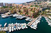 Quay in Monaco. Wide angle view.