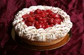 Raspberry  cheesecake whipped with white cream