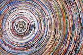 background of a colorful spiral of wrapped paper