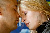 closeup young natural attractive couple
