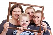 Family Portrait With Empty Frame
