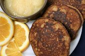 Wheatless Ginger Pancakes, Closeup