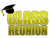 class reunion Graduation cap isolated on white background.