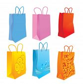 Shopping bags. Vector illustration.
