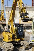 stock photo of jcb  - giant industrial bulldozer - JPG