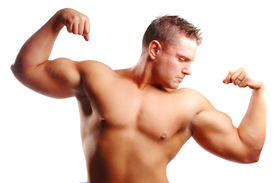 stock photo of body builder  - a body builder with a lot muscle - JPG