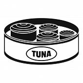 Open Tuna Can Icon. Simple Illustration Of Open Tuna Can Icon For Web Design Isolated On White Backg poster