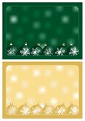 green and gold christmas greetings